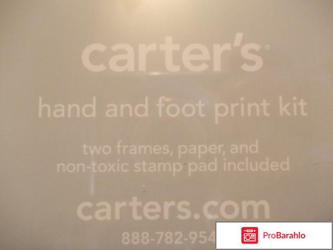 Набор для создания отпечатков ручки и ножки малыша Carter's отрицательные отзывы