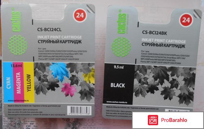 Картридж CACTUS CS-BCI24BK черный отрицательные отзывы