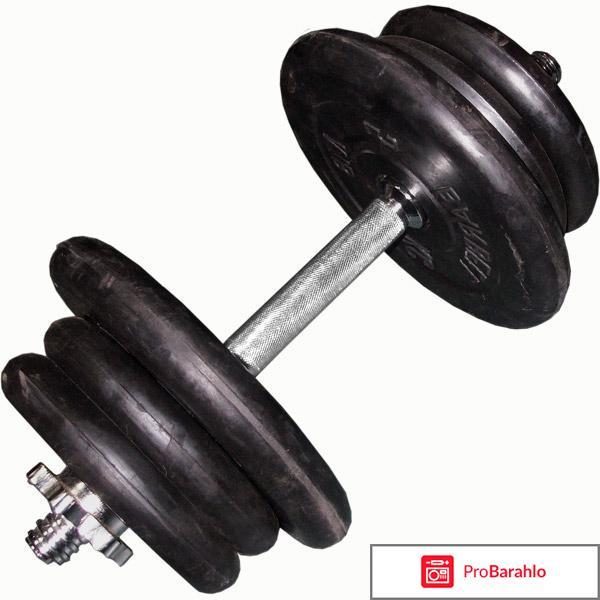Гантели обрезиненные Reebok RSWT-10065, 2 х 15 кг обман