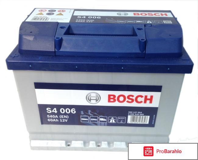 Аккумулятор bosch отрицательные отзывы