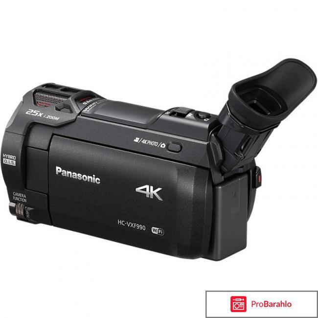 Panasonic HC-VXF990, Black 4K видеокамера отрицательные отзывы